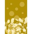 floral back design vector image vector image