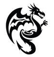 flying dragon tattoo vintage engraving vector image