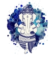 Ganesha god vector image
