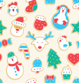 Gingerbread seamless pattern vector image