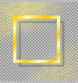 gold frame with shadow with gold dust vector image
