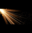 golden rays banner background vector image vector image