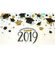 graduation background class of 2019 with graduate vector image