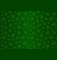 green pattern with cannabis vector image