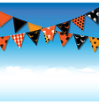 Halloween Bunting Flags With Sky vector image vector image