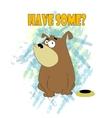 Happy Fat Dog Cartoon vector image vector image
