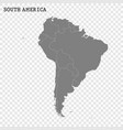 high quality map south america vector image vector image