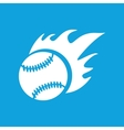Hot baseball icon simple vector image
