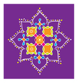 Indian Kolam vector image vector image