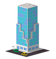 low poly business building vector image
