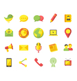 Media communication icons vector image