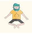 Meditation man vivid color vector image