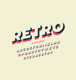 modern font design in retro style vector image vector image