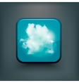 Modern realistic icon with sun and clouds vector image vector image