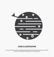 moon planet space squarico earth icon glyph gray vector image