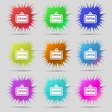 open icon sign A set of nine original needle vector image vector image