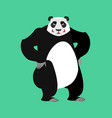 panda angry emoji chinese bear aggressive emotion vector image