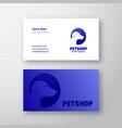 petshop abstract sign symbol or logo logo vector image