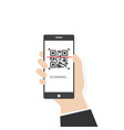 phone with qr code vector image vector image