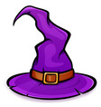 purple witch hat design vector image