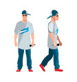 rapper man dressed in rappers style clothing vector image vector image