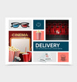 realistic cinematography elements composition vector image vector image