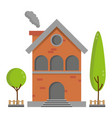residential brick house building vector image