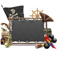sail pirate frame vector image