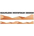 Seamless brown mountain range