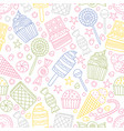 seamless pattern with candies in doodle style vector image vector image