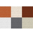 Set of 6 colored brick wall Seamless vector image vector image
