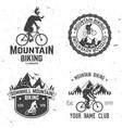 set of mountain biking clubs vector image vector image