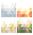 set of triangle modern geometric background vector image