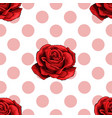 simply seamless pattern of light pink rose vector image vector image