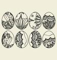 sketch ornate easter eggs vector image vector image