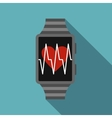 Smartwatch icon flat style vector image vector image