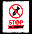 Stop bombing anti military design element