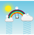 swing on a rainbow vector image vector image