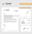 sword business letterhead envelope and visiting vector image vector image