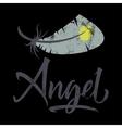 T-shirt printing logo template Angel vector image vector image