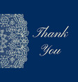 thank you lace card vector image vector image