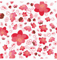 trendy flower sakura background seamless pattern vector image vector image