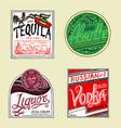 vintage american absintequila vodka liqueur vector image vector image