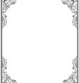 Vintage retro frame for design Ornamental floral vector image vector image
