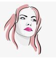 Young beautiful woman portrait sketch vector image vector image