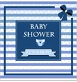 baby shower card for baby boy vector image