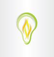 green eco low energy bulb icon vector image