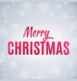 winter background for merry christmas and new year vector image