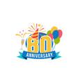 anniversary eighty years number vector image