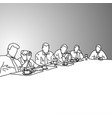 business people in a conference room vector image